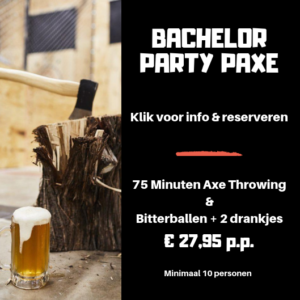 Vrijgezellenfeest Arrangement Axe Throwing Bijlmerbajes