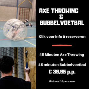 Axe Throwing & Bubbelvoetbal