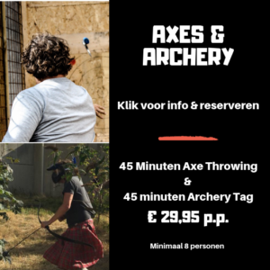 AXE THROWING EN ARCHERY TAG
