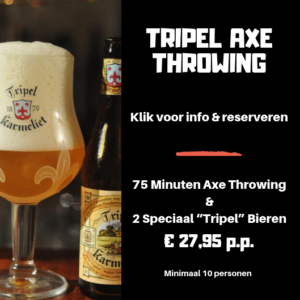 Tripel Bier Arrangement Axe Throwing Bijlmerbajes