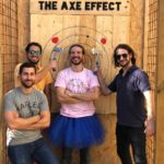 Bachelor party axe throwing
